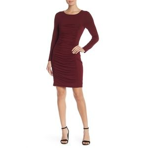 Nordstrom Spense Red Ruched Dress S New!